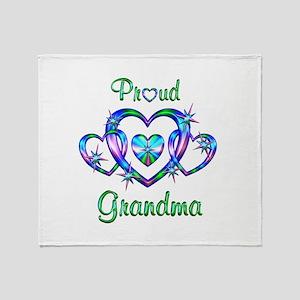 Proud Grandma Throw Blanket