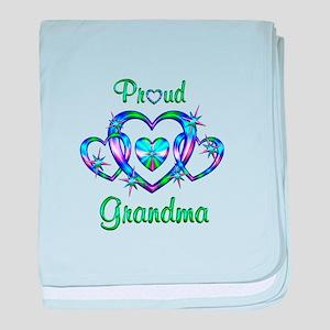 Proud Grandma baby blanket