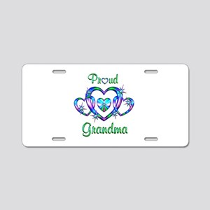 Proud Grandma Aluminum License Plate