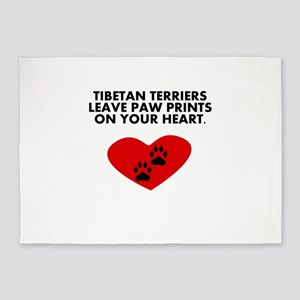 Tibetan Terriers Leave Paw Prints On Your Heart 5'