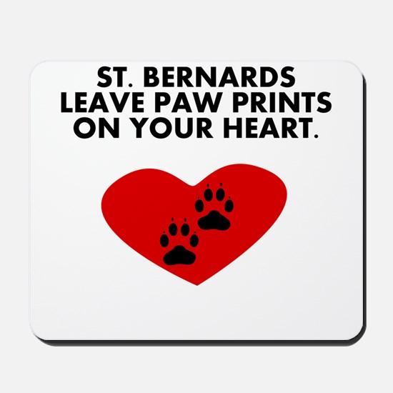St. Bernards Leave Paw Prints On Your Heart Mousep