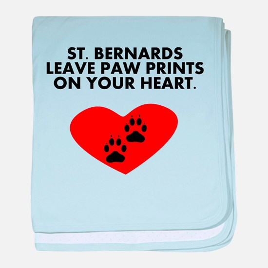 St. Bernards Leave Paw Prints On Your Heart baby b