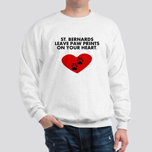 St. Bernards Leave Paw Prints On Your Heart Sweats