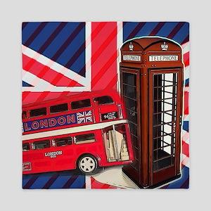 telephone booth london bus Queen Duvet