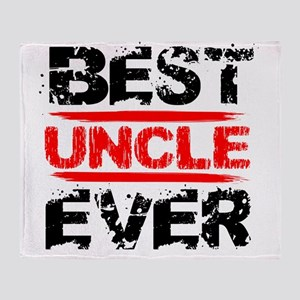 best uncle ever black and red grunge Throw Blanket
