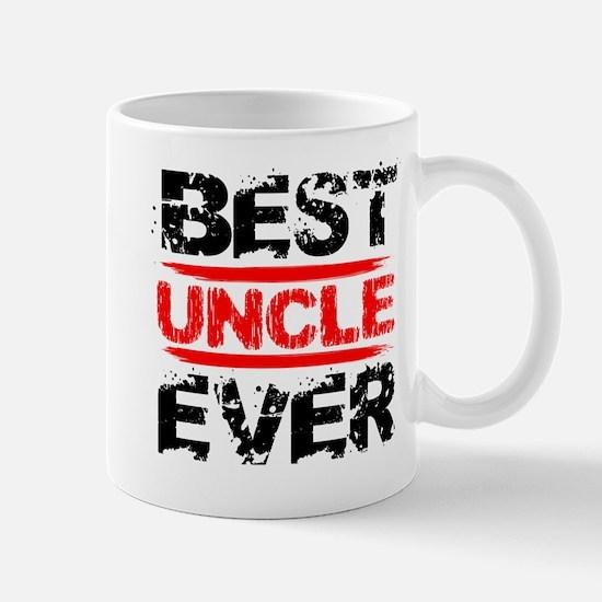 best uncle ever black and red grunge te Mug