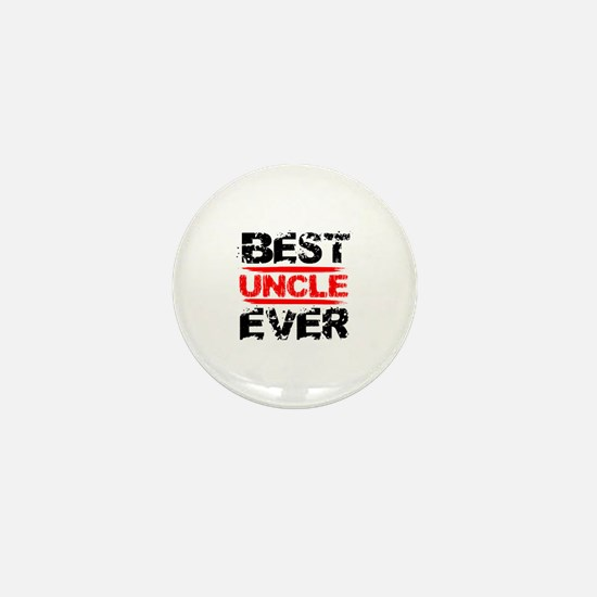 best uncle ever black and red grunge t Mini Button