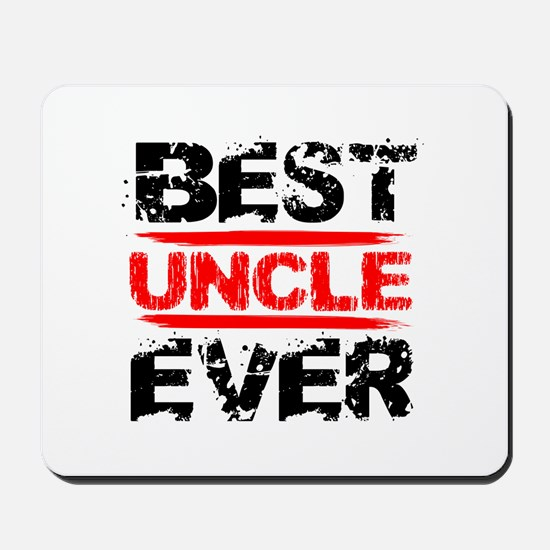 best uncle ever black and red grunge tex Mousepad
