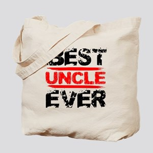 best uncle ever black and red grunge text Tote Bag