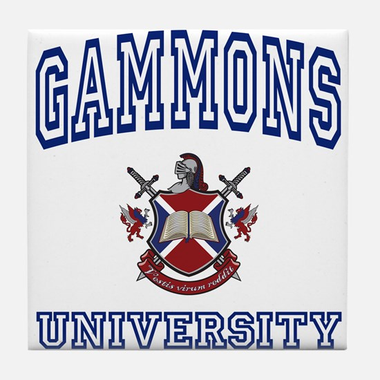 GAMMONS University Tile Coaster