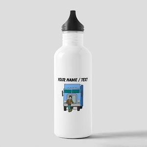 Truck Driver (Custom) Water Bottle
