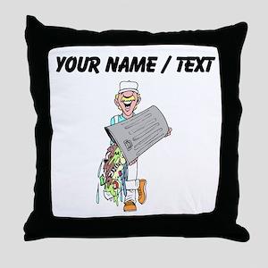 Trash Collector (Custom) Throw Pillow