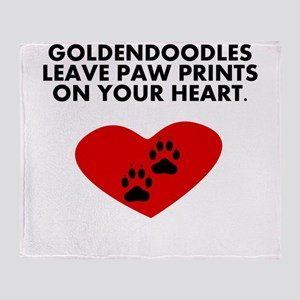Goldendoodles Leave Paw Prints On Your Heart Throw