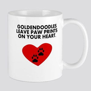 Goldendoodles Leave Paw Prints On Your Heart Mugs