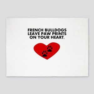 French Bulldogs Leave Paw Prints On Your Heart 5'x