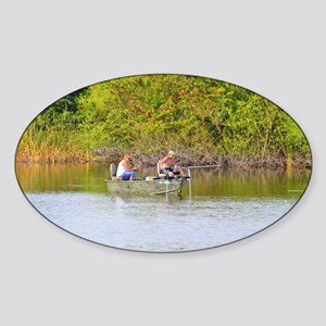 I'd Rather Be Fishing Sticker (Oval)