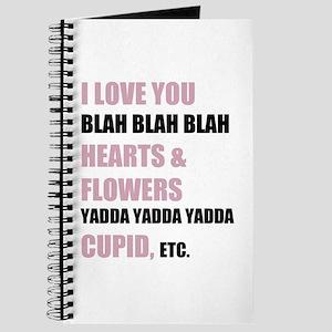 I Love You Blah Blah Blah Journal