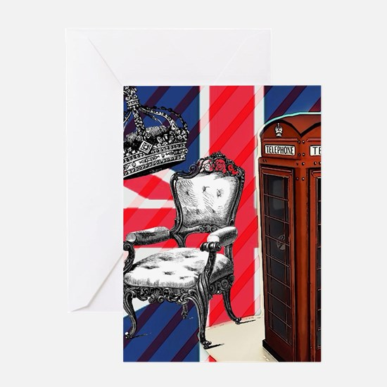 telephone booth london fashion Greeting Cards