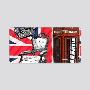 telephone booth london fash Aluminum License Plate