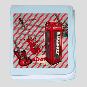 fashion london telephone guitar baby blanket