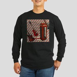 fashion london telephone guita Long Sleeve T-Shirt