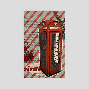 fashion london telephone guitar Area Rug