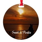 Sunset in Paradise Round Ornament