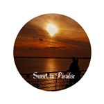 "Sunset In Paradise 3.5"" Button"