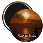 "Sunset In Paradise 2.25"" Magnet (100 Pack) Ma"