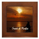Sunset in Paradise Framed Tile