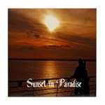Sunset in Paradise Tile Coaster
