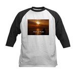 Sunset in Paradise Kids Baseball Jersey