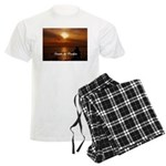 Sunset in Paradise Men's Light Pajamas