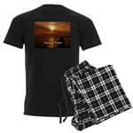Sunset in Paradise Men's Dark Pajamas