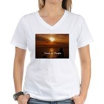 Sunset in Paradise Women's V-Neck T-Shirt