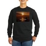 Sunset in Paradise Long Sleeve Dark T-Shirt