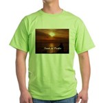 Sunset in Paradise Green T-Shirt