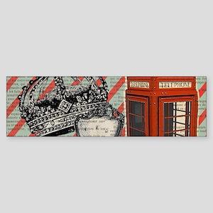 vintage telephone booth london Bumper Sticker