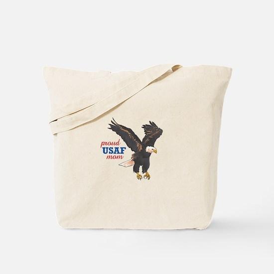 Proud USAF Mom Tote Bag