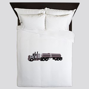 SEMI W/ TANKER Queen Duvet