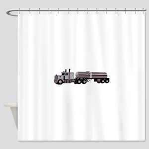 SEMI W/ TANKER Shower Curtain