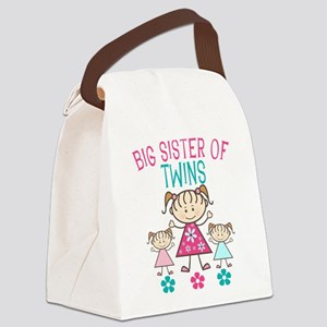 Big Sister of Twins Canvas Lunch Bag