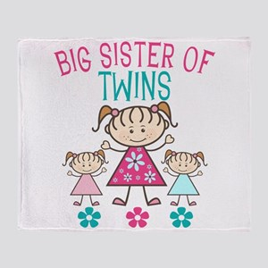 Big Sister Of Twins Throw Blanket