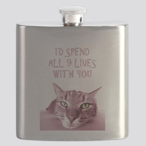 I'd Spend All 9 Lives With You Flask
