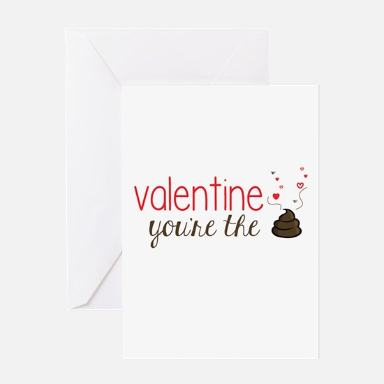 Valentine You're the Poo Greeting Cards
