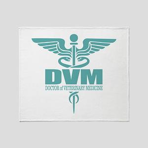 Caduceus DVM Throw Blanket