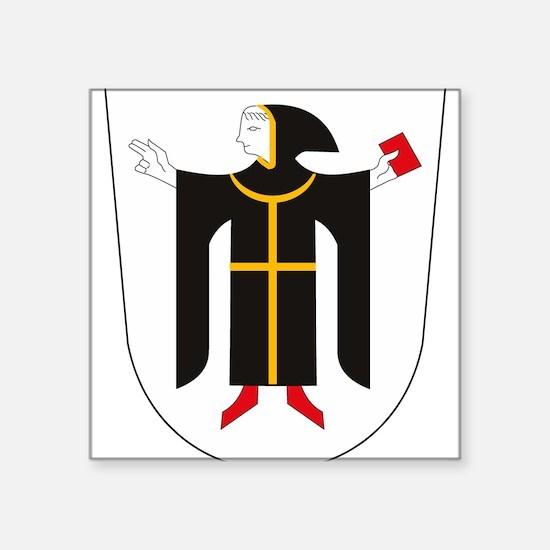 "Cool German crest Square Sticker 3"" x 3"""
