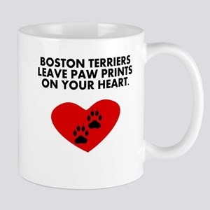 Boston Terriers Leave Paw Prints On Your Heart Mug
