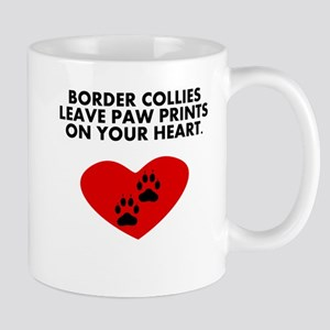 Border Collies Leave Paw Prints On Your Heart Mugs