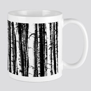 Artistic Birch Trees in black and white Mugs